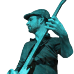Steve performing live with V7 Jazz Bass